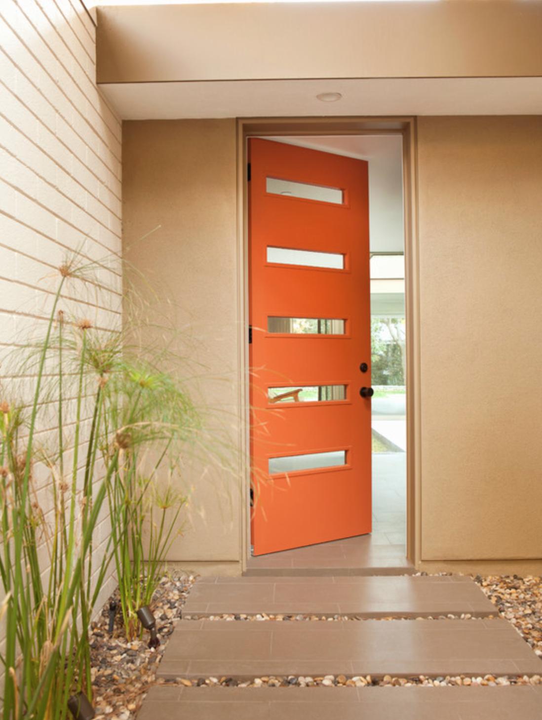 Orange Door Design Ideas
