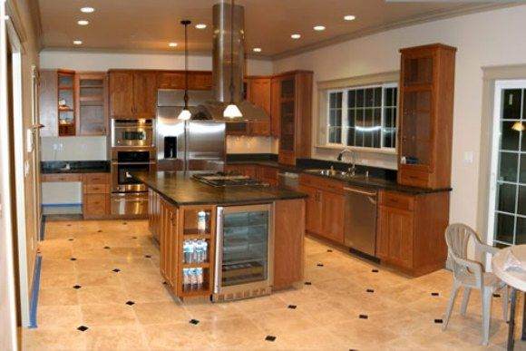 Kitchen floor idea using ceramic tiles | HOME DESIGN IDEAS ...