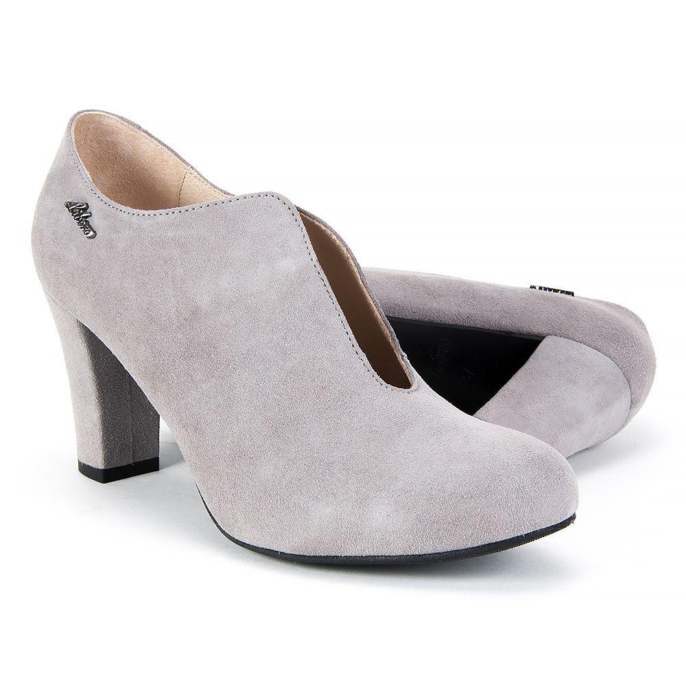 Botki Damskie Libero Szary Bez Sock Shoes Heeled Mules Shoes
