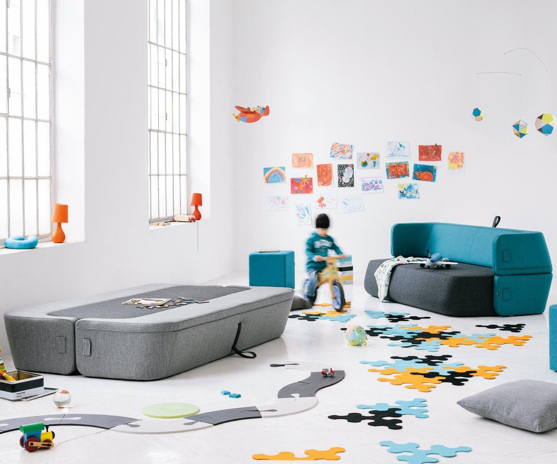 Design Schlafsofa Prostoria Revolve Bettsofa Gästebett Komfortabel  Liegefläche 140 X 210 Cm Bezug Grün Blau Grau