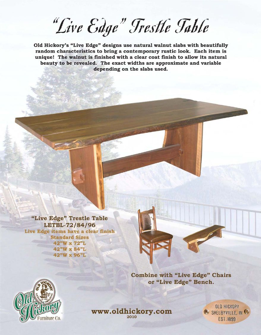 Merveilleux Old Hickory Furniture Co. Live Edge Walnut Trestle Table. Available At  Www.ladesignportfolio.com