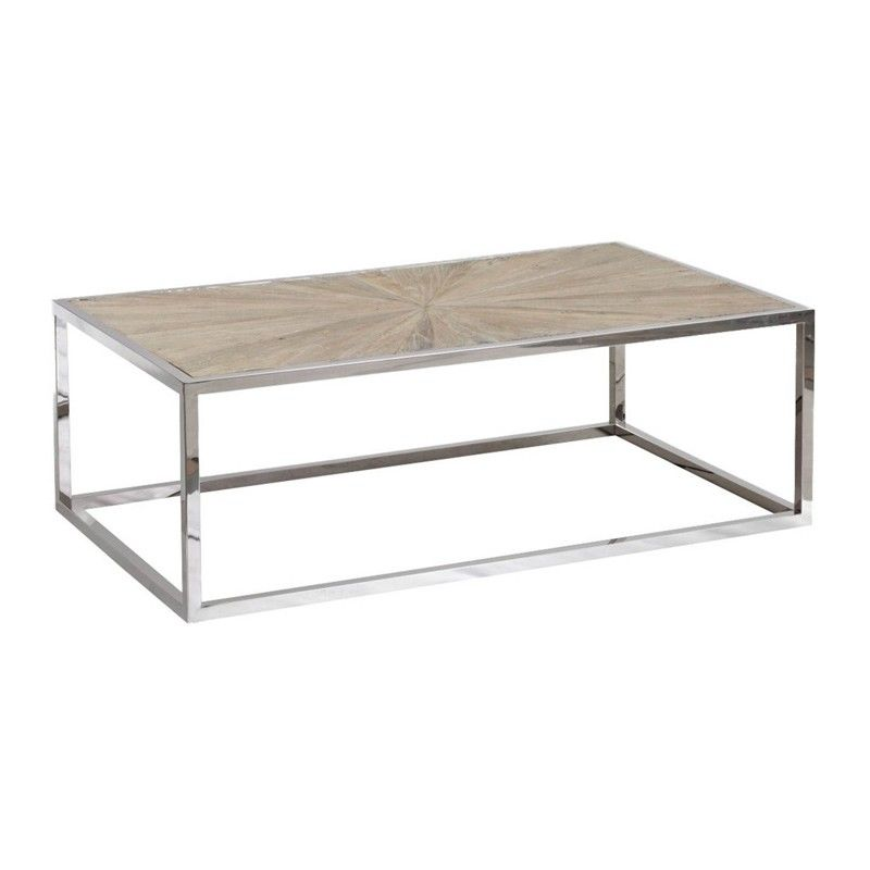 Orient Express Furniture   Parquet Coffee Table   8030.SGRY ELM/STL