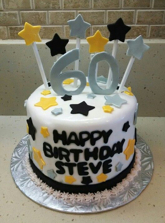 Happy 60th Birthday Steve Vanilla Cake With Oreo And