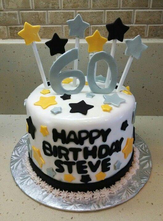 Happy 60th Birthday Steve Vanilla Cake With Oreo And Caramel Filling