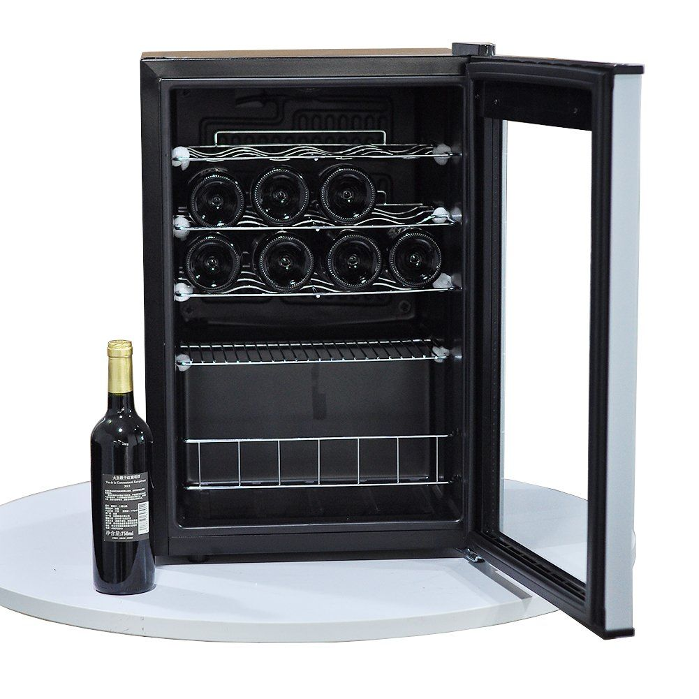 Smeta 19 Bottle Small Wine Cooler Cellar Under Counter Wine Refrigerator Compressor Cooling Quiet Operation Wine Fridge Small Wine Cooler Wine Refrigerator