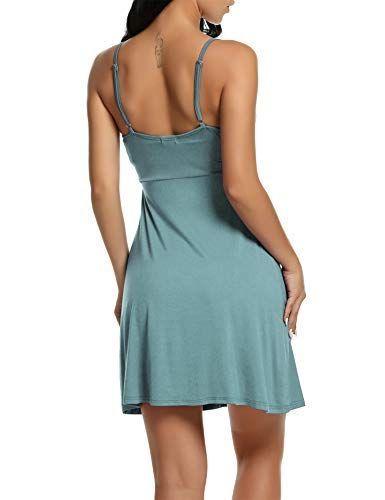 Volumen groß preisreduziert erstklassiges echtes BeautyUU Damen Nachtkleid V-Ausschnitt Nachthemd Spitze ...
