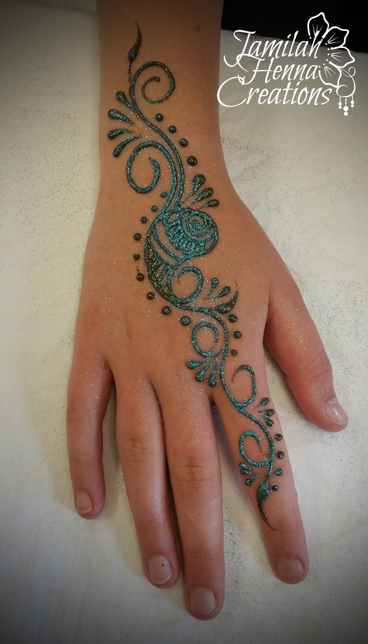 Simple Henna Tattoo Henna Tattoo: Paisley Henna Swirls Www.jamilahhennacreations.com