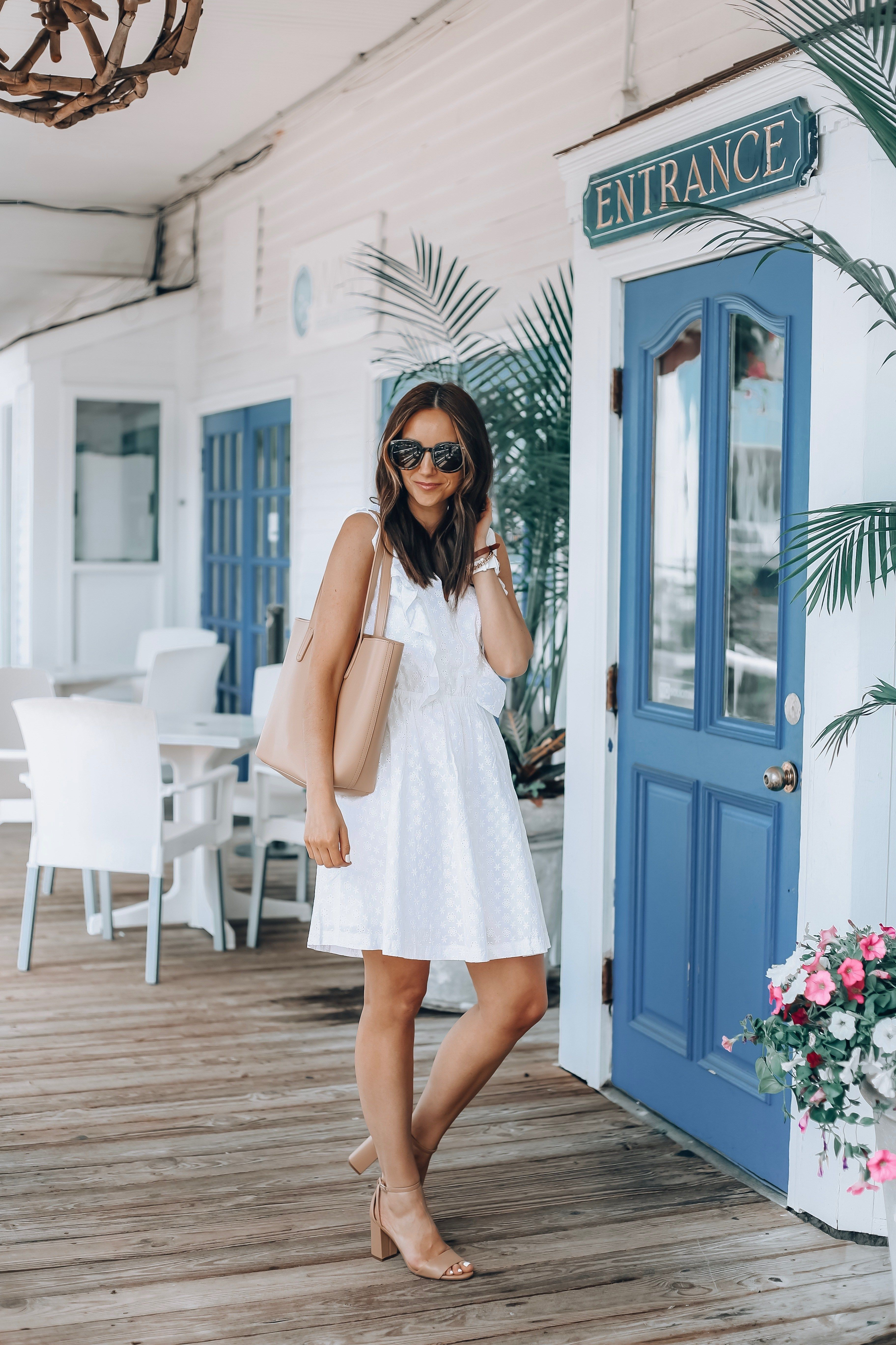 The Perfect White Dress For Mother S Day From Walmart White Dress Cute White Dress Outfit Inspiration Spring [ 5472 x 3648 Pixel ]