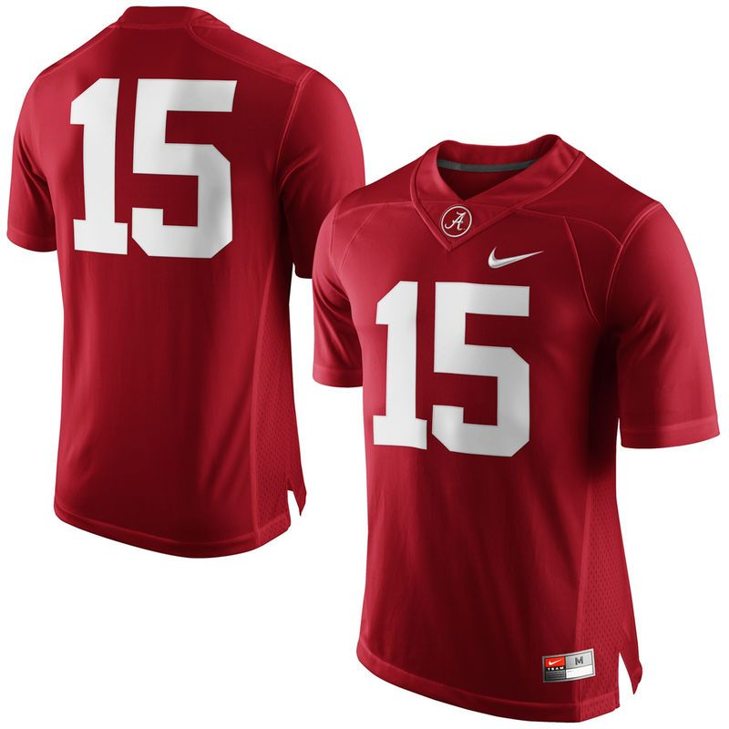 buy online 3310f db4d2 Alabama Crimson Tide Nike #15 Limited Football Jersey ...
