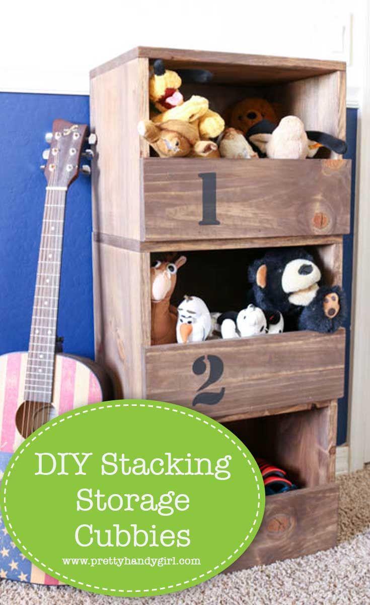 DIY Stacking Storage Cubbies Cubby storage, Cubbies, Diy