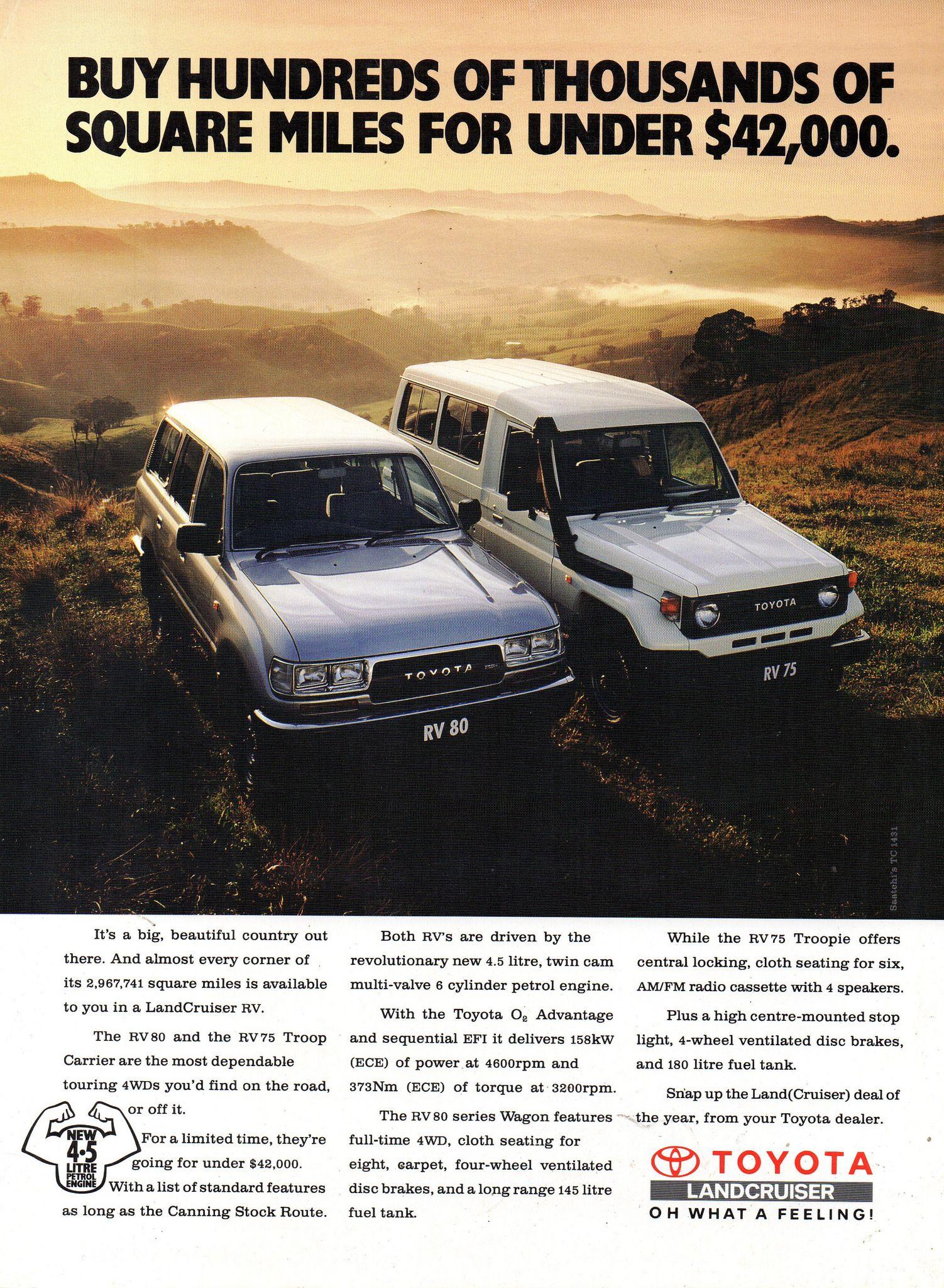 1993 Toyota LandCruiser RV 80 Wagon & RV 75 Troop Carrier Aussie
