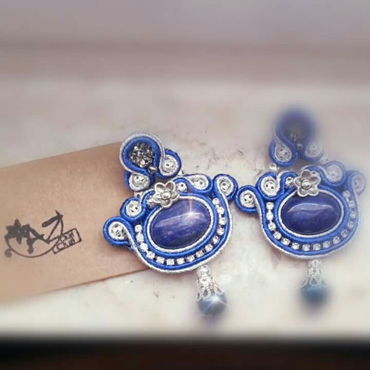 #soutacheaccesories #CiuriCiuribyAz #soutache #handmade #soutachejewelry #unici #earrings #blu #argento #ciuriciuri #az