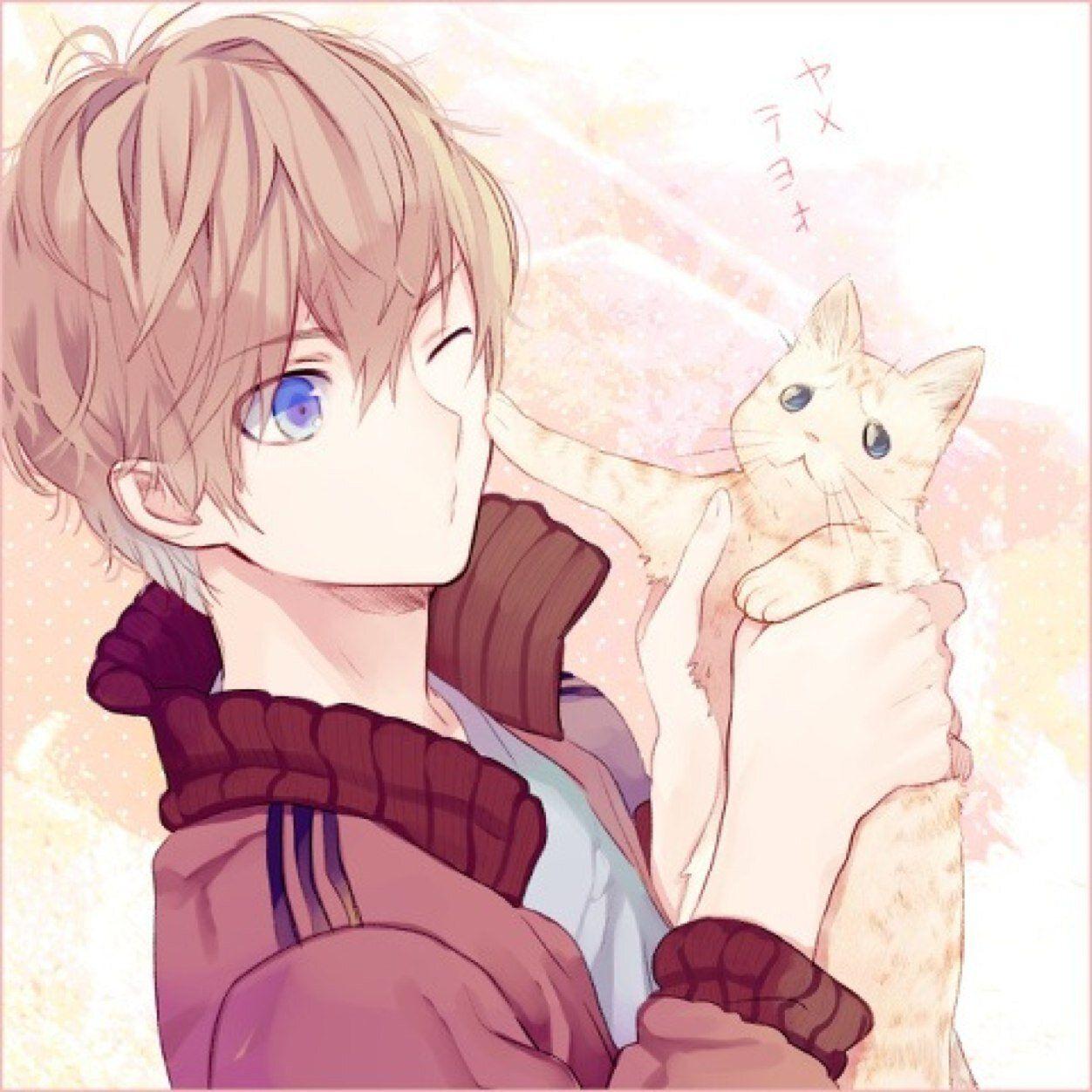 Anime Boy With Blonde Hair And Blue Eyes Tim Với Google Anime