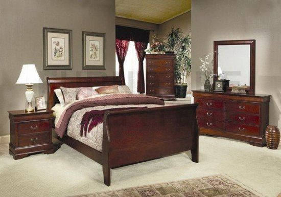 Grey Walls Cherry Wood Furniture | Cherry Wood Bedroom Furniture A