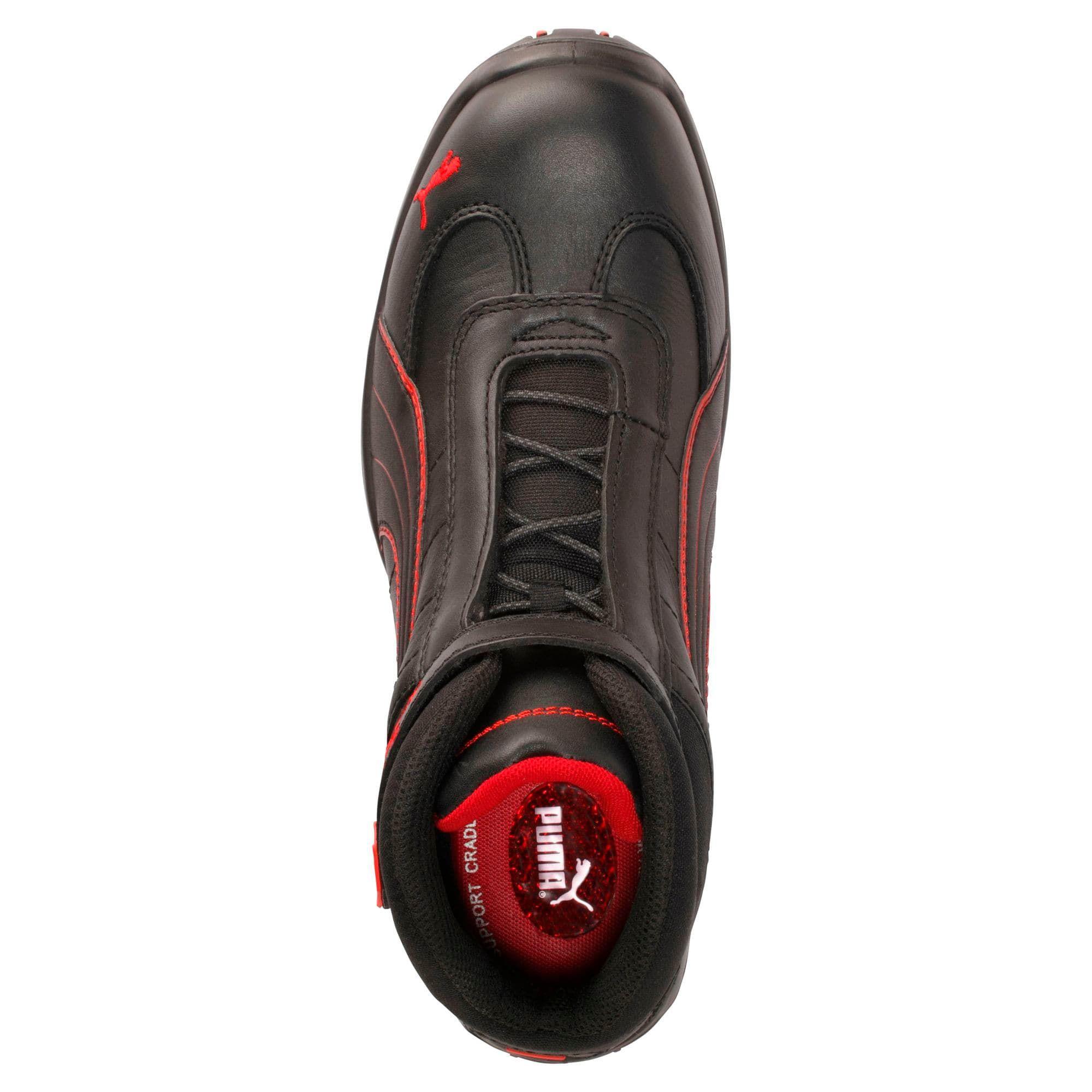 chaussure de securite puma noir et rouge