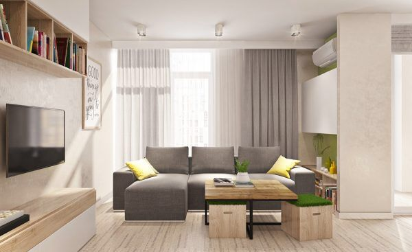 Two different springtime themes in two small apartments