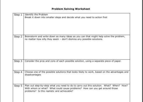 Image Result For Cbt Problem Solving Worksheets Funny Pinterest