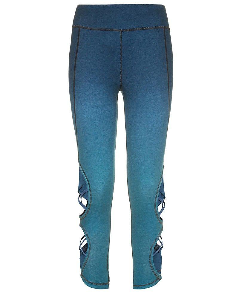 f7278e0169f2f Chandrasana 7/8 Reversible Yoga Leggings - DarkTeal   leggings   Sweaty  Betty