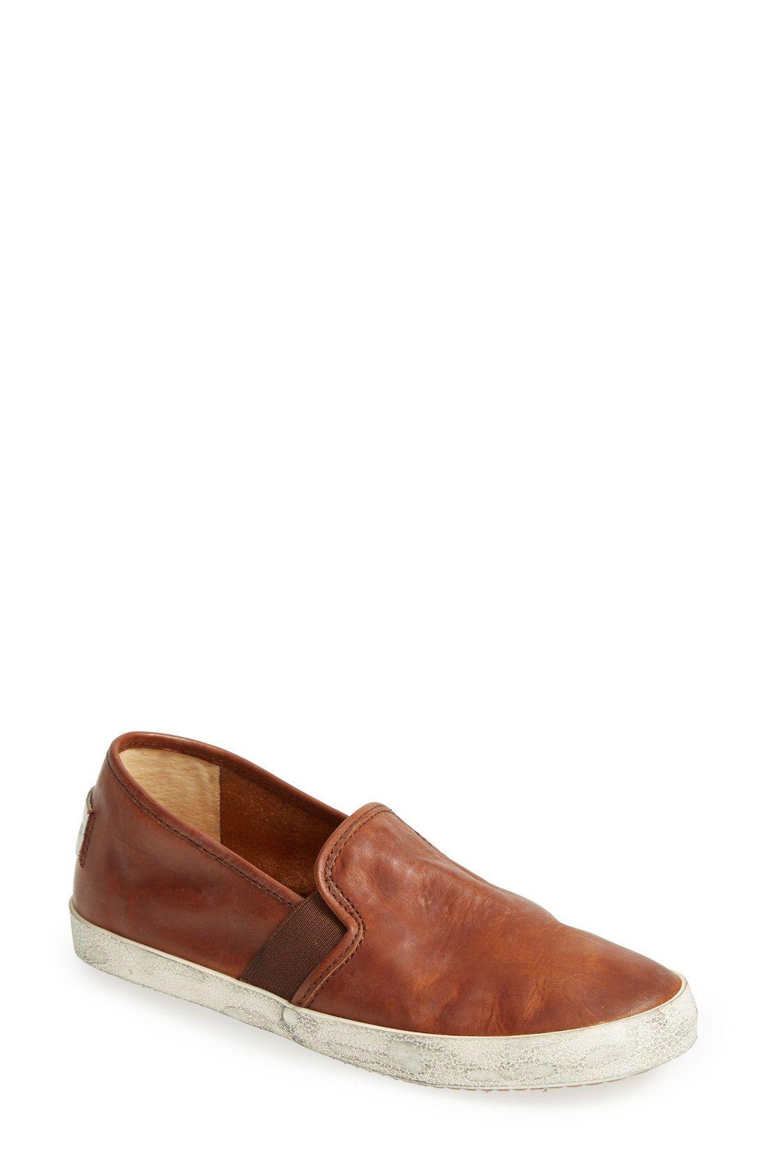 Frye Dylan Leather Slip On Sneaker Women Nordstrom Slip On Sneaker Leather Slip Ons Womens Sneakers