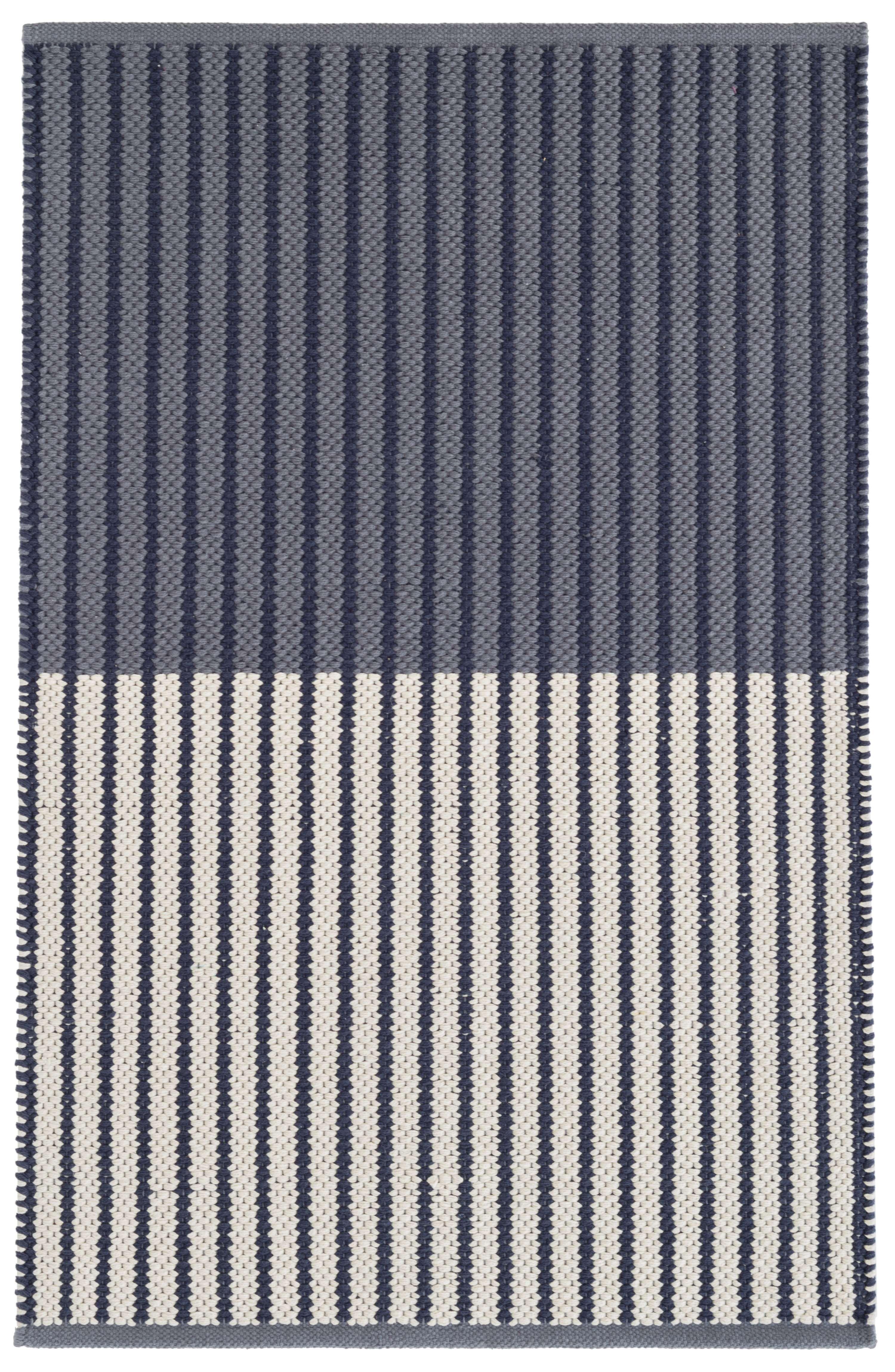 Graham Navy Woven Cotton Rug Cotton Rug Navy Cotton Rug Rug Shopping