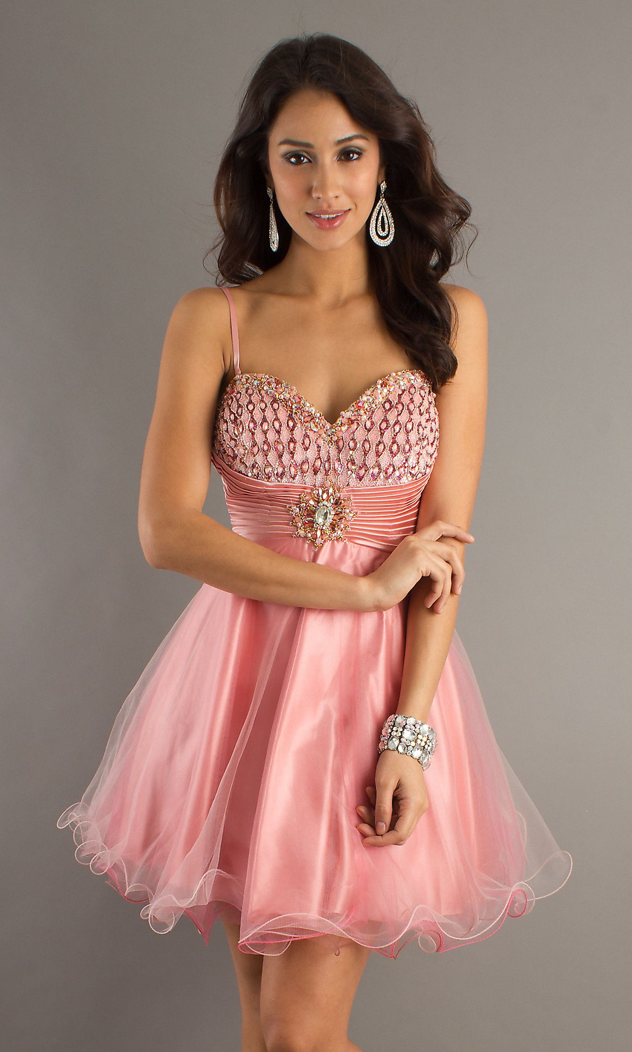 Pink Spaghetti Strap Baby Doll Dress, Pink Dress - Simply Dresses ...