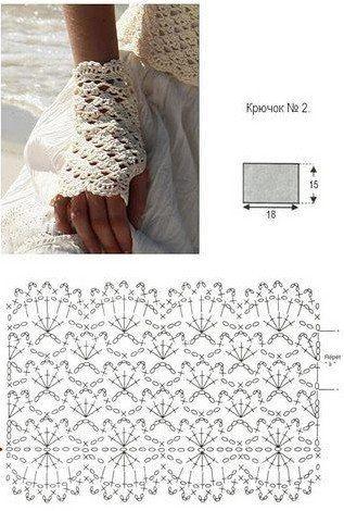 Crochet fingerless gloves and many other free charts | Eldiven ...