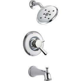 Delta Linden Chrome 1 Handle Watersense Bathtub And Shower Faucet