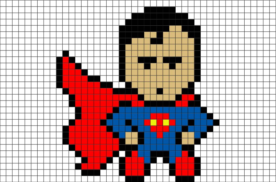 Superman Pixel Art Pixel Art Art Superman