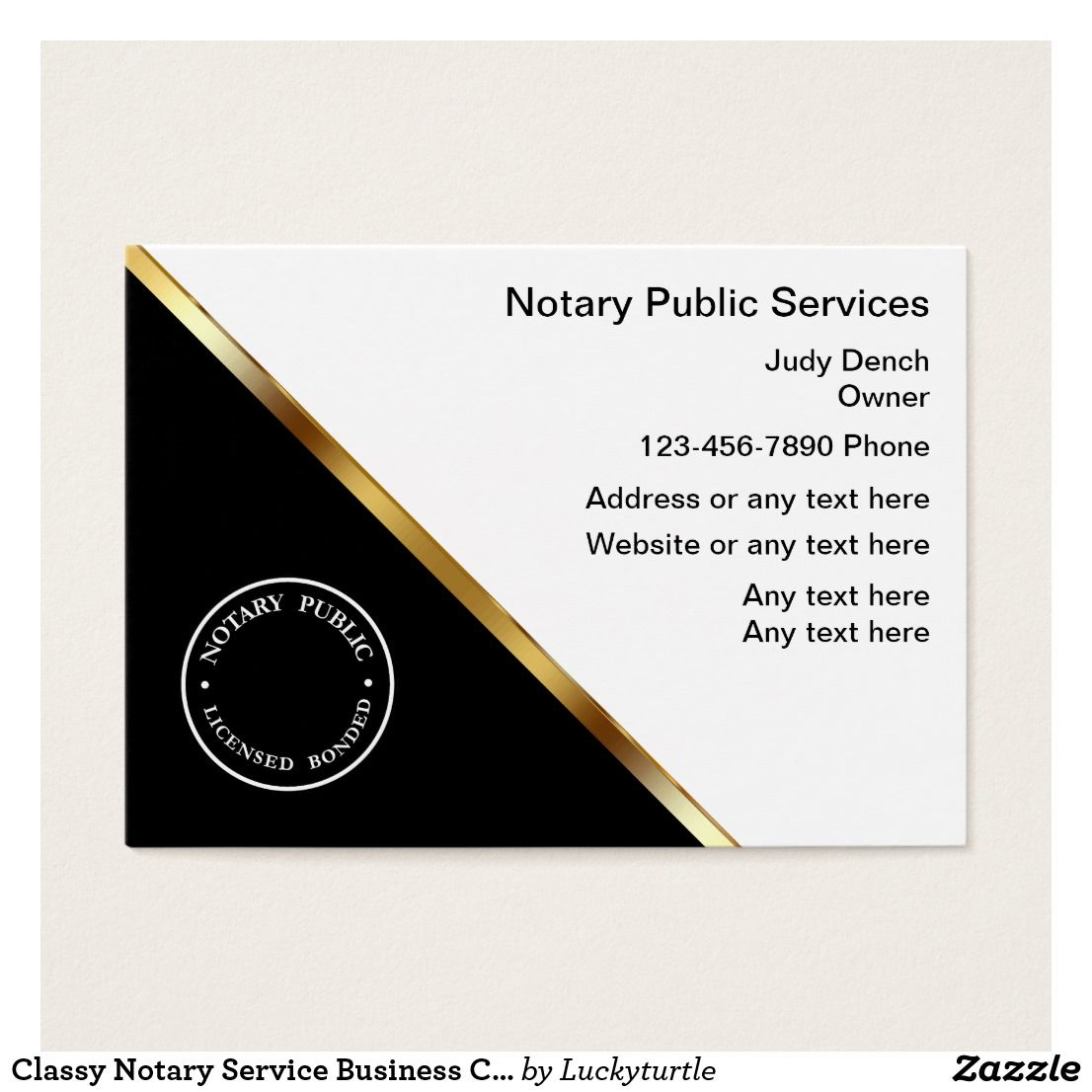 Classy Notary Service Business Cards Custom Check Out More Business Card Designs At Http Www Zazzle C Notary Service Services Business Notary Public Business