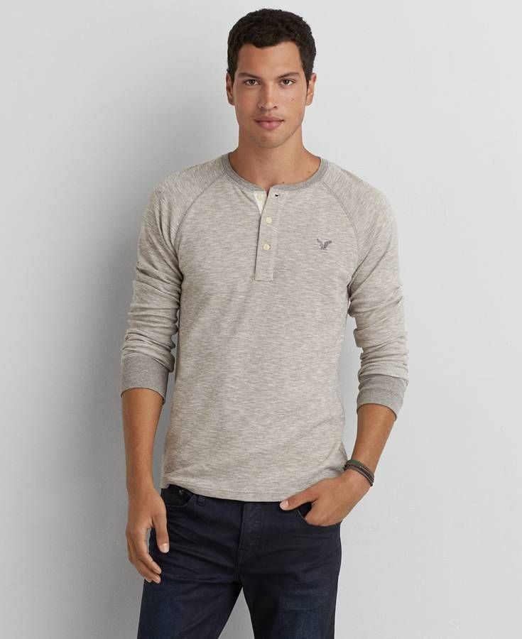 bc974fe1 AE Beyond-Soft Henley Thermal | *Clothing* | Mens outfitters, Men ...