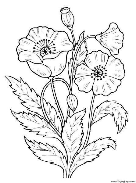 dibujos de flores  Buscar con Google   Pinteres