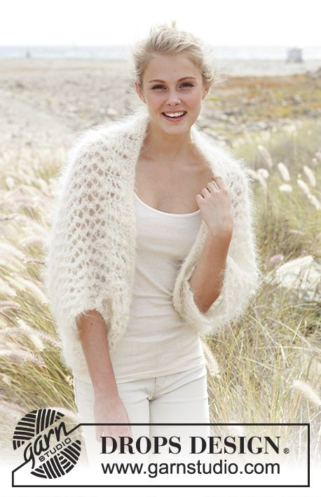 Cloud / DROPS 148-24 - Knitted DROPS bolero in Vienna or Melody ...