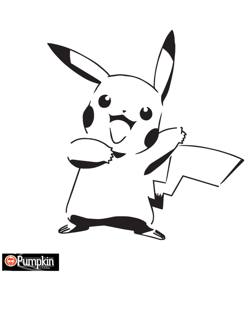 Pokemon Pikachu Pumpkin Pattern | Free Pumpkin Patterns | Pinterest