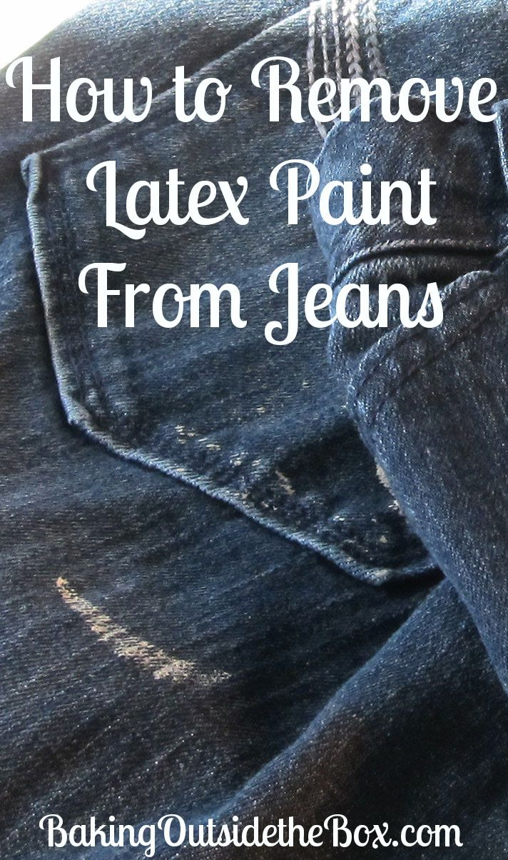 How to get latex paint out of jeans
