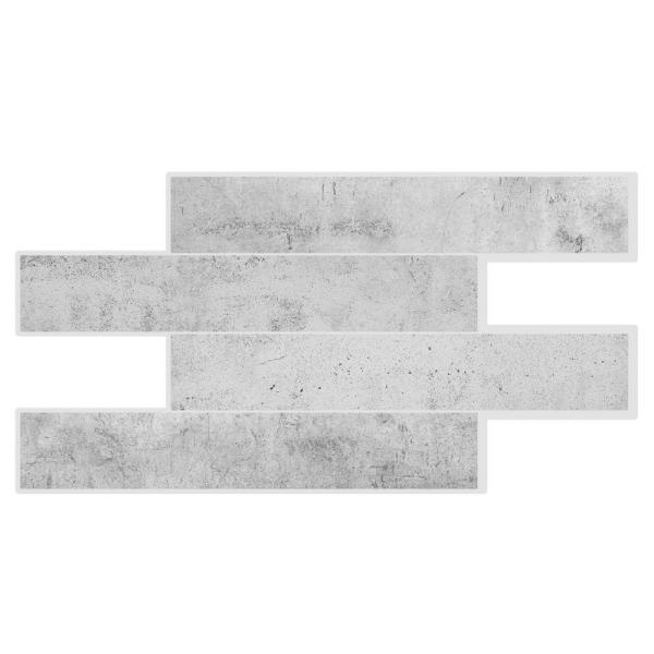 Smart Tiles Norway Alta 22 56 In W X 11 58 In H Grey Peel And Stick Self Adhesive Mosaic Wall Tile Back Mosaic Wall Tiles Smart Tiles Peel N Stick Backsplash