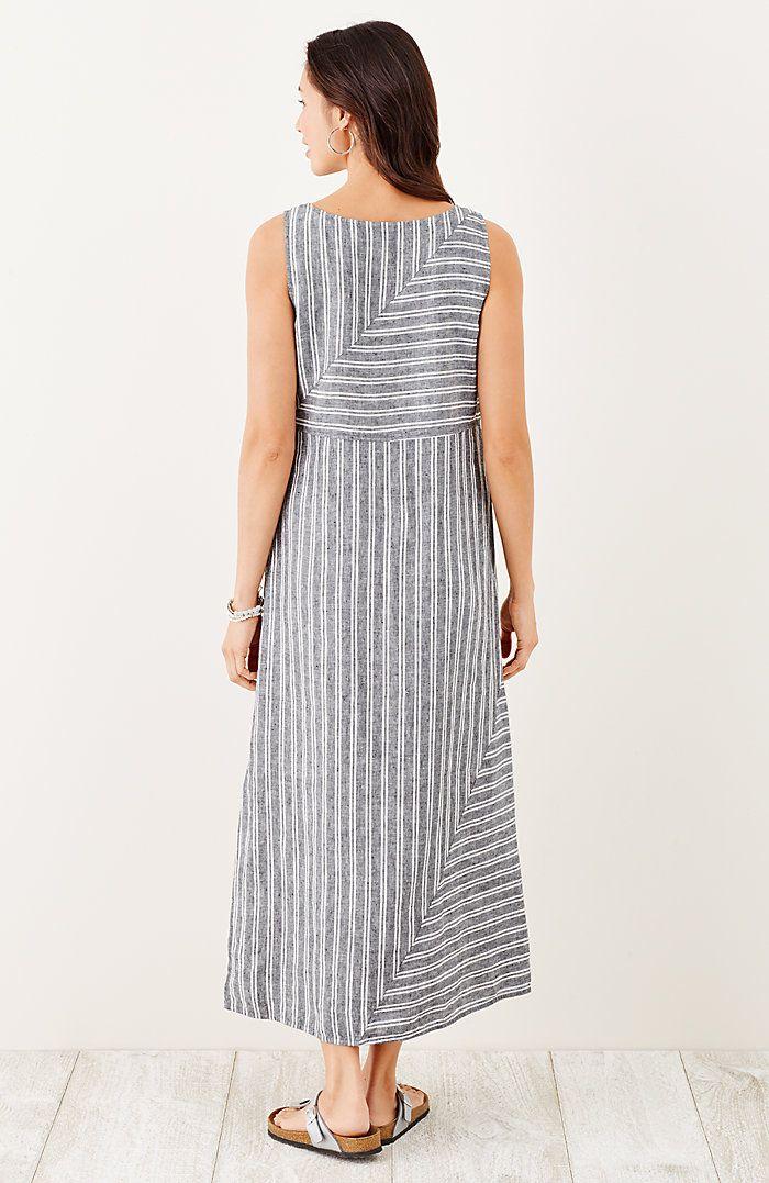 aafdbd0e84 long striped linen dress