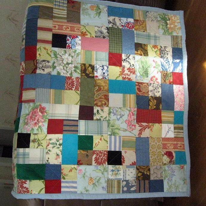 Fabulous Patchwork Scrap Quilt by SuzanneMedrano, $120.00 USD