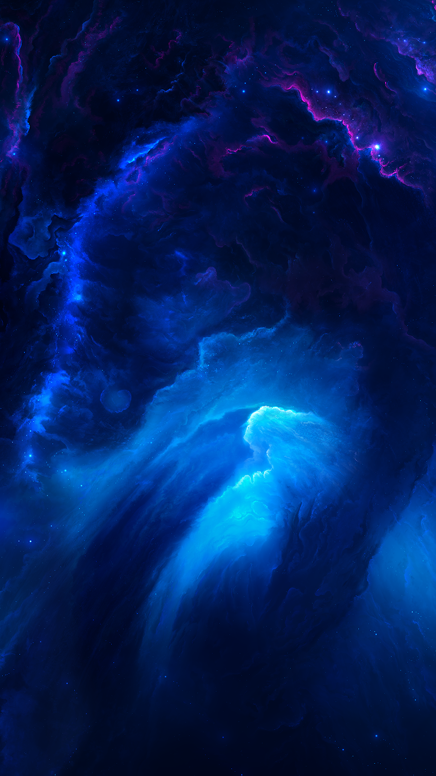 Blue Space Wallpaper Iphone Android Wallpaper Space Blue Space Scenery