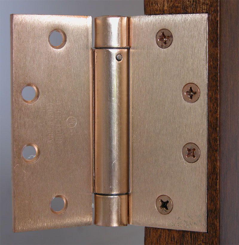 For Automatic Closing Of The Door Hager 1250 Single Acting Spring Hinges Meet Codes For Hotels Motels Instituti Self Closing Hinges Door Hardware Door Locks