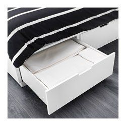 Nordli Bed Frame With Storage White 140x200 Cm Bed Frame With Storage Bed Frame Ikea