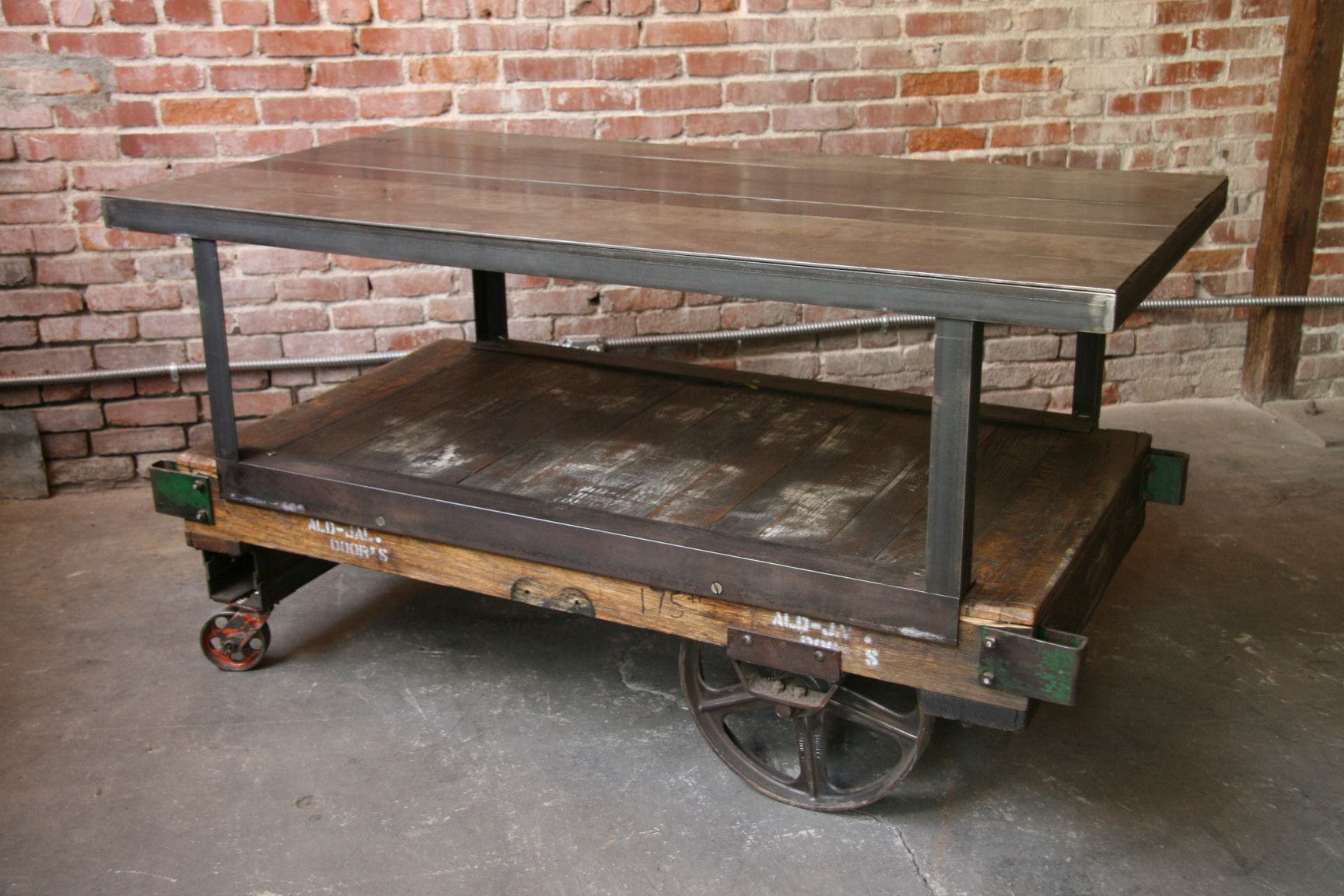 Im digging the repurposed industrial thing home design im digging the repurposed industrial thing home design pinterest repurposed industrial and cart coffee table geotapseo Image collections