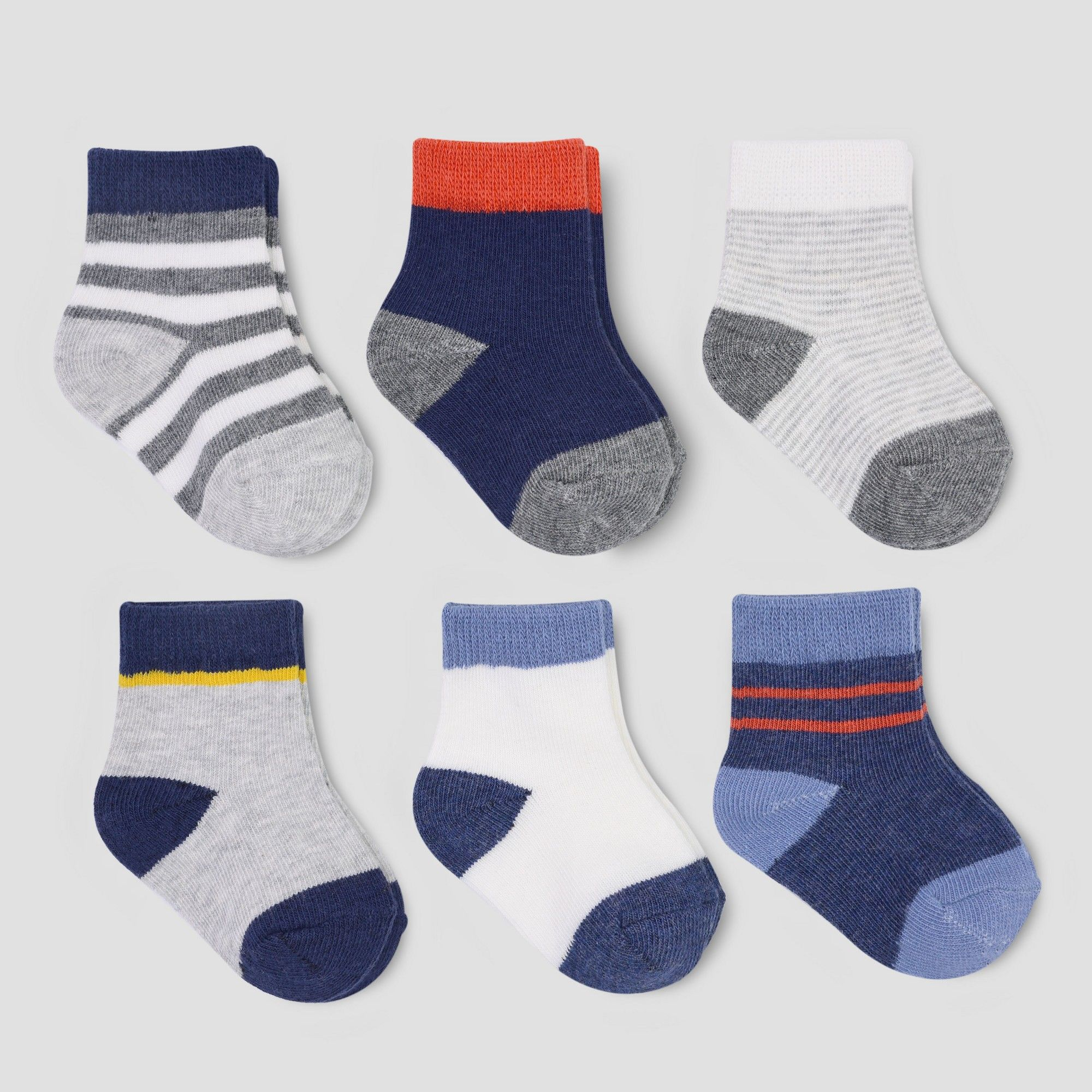 a67279860 Baby Boys  6pk Stripe Crew Socks - Just One You made by carter s ...
