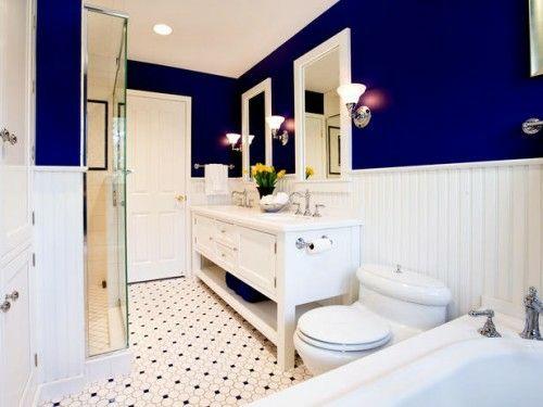 Wände Im Badezimmer, bunte badezimmer designs - blaue wände | badezimmerideen | pinterest, Design ideen