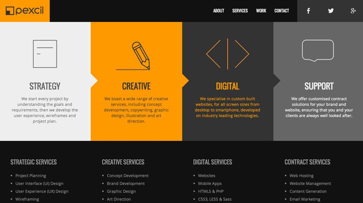 creative ideas and examples for website design with a minimalist - Web Page Design Ideas