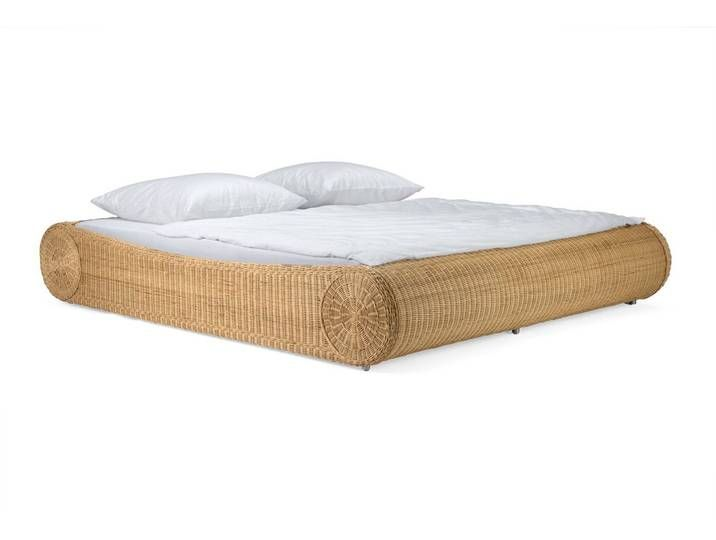 Massivum Bett Aus Rattan Ronda Natur 140x200cm Home Decor Bed Rattan