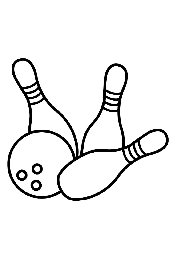 Coloring Pages Bowling For Kids Learn Colors Painting For Kids And Drawing For Children Sports Coloring Pages Star Coloring Pages Coloring Pages