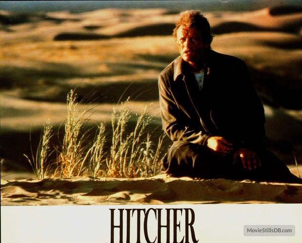 The Hitcher lobby card with Rutger Hauer