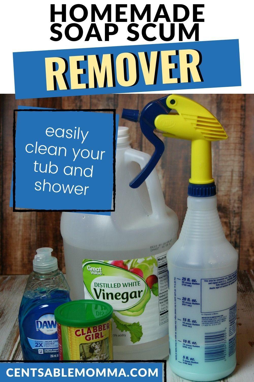 Diy bathroom soap scum remover soap scum bathroom soap