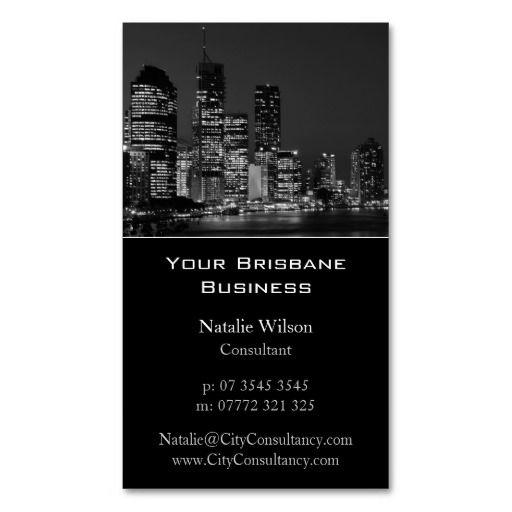 Brisbane city skyline business card city skylines business brisbane city skyline business card reheart Choice Image