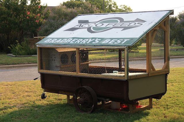 Mobile Chicken Coop Made From Upcycled Antique Truck Bed And